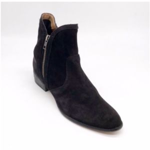 Seychelles Lucky Penny Black Suede Booties